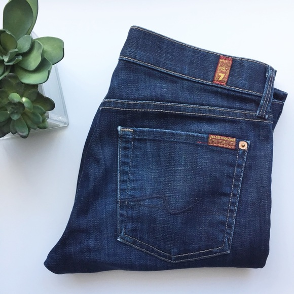 7 For All Mankind Denim - 7 for All Mankind Straight Leg Dark Wash Jeans